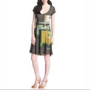 Desigual Karen Dress Fit and Flare Green